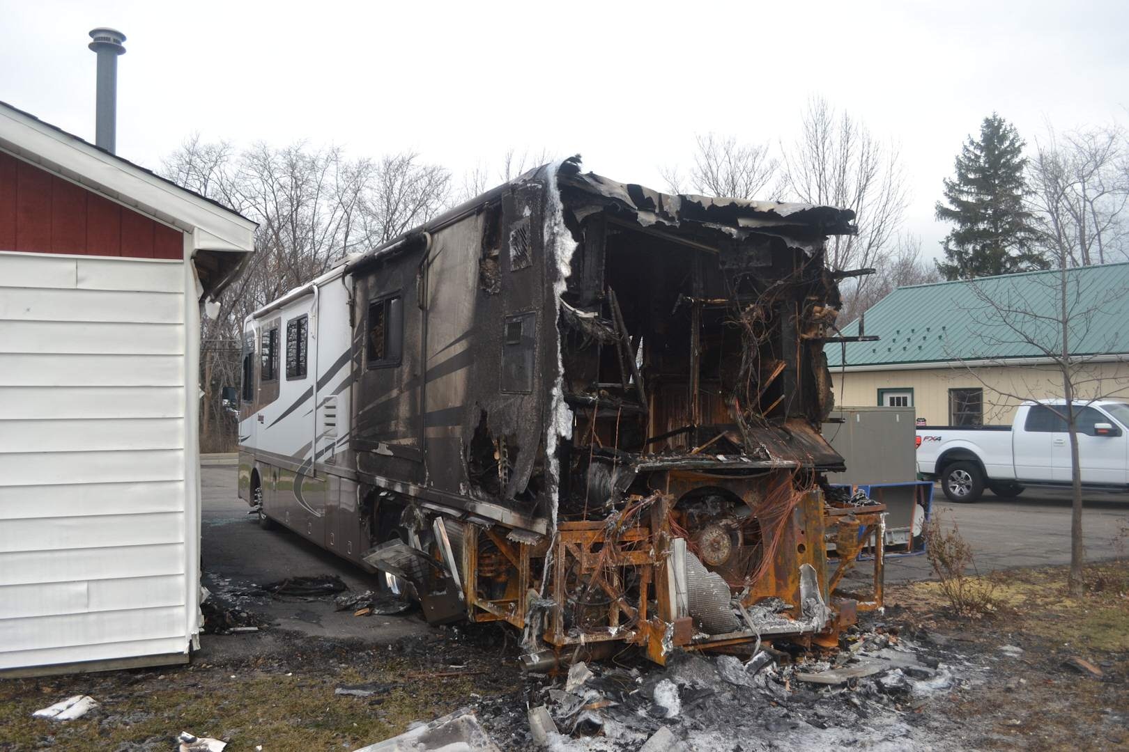 Motor Home Fire Investigation in Corning, New York
